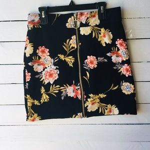 INC International Concepts Floral Mini Skirt